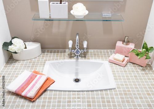 Fototapety, obrazy: Modern bathroom