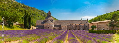 Obraz na płótnie Ancient monastery Abbey Notre-Dame de Senanque in Vaucluse, France