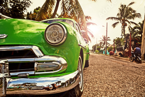 Photo sur Aluminium Vintage voitures Kuba, Oldtimer in Havanna