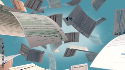 Fotografía  italian taxes concept