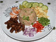 Fried Rice With Shrimp Paste Sweet Pork.