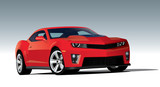 Modern sport car. Vector EPS10 isolated, separated layers, one click repaint
