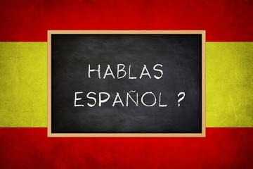Fototapeta hablas espanol - Spanish language