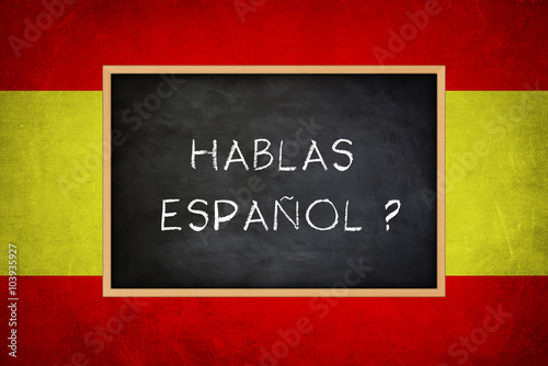 Photographie  hablas espanol - Spanish language