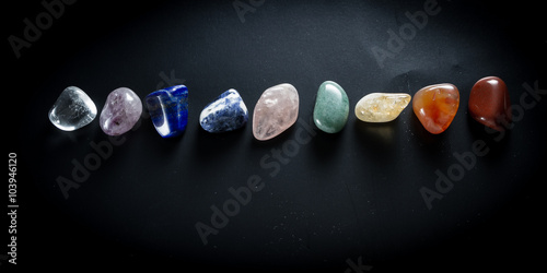 Fotografie, Obraz  Chakra Balancing stones