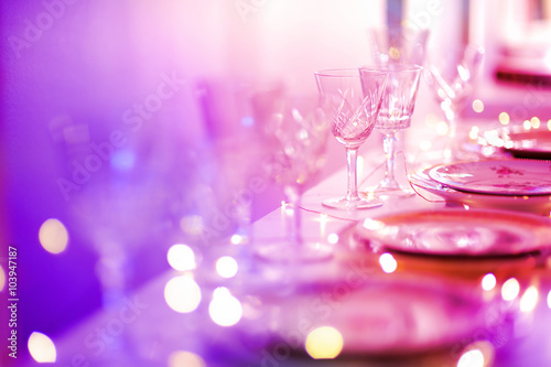 Fotografie, Obraz  Table set for an event party or wedding reception