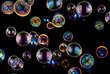 canvas print picture - soap bubbles