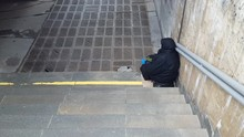 Beggar Woman Begging On The St...