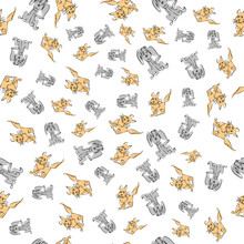 Hand Drawn Seamless Kids Pattern