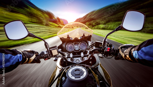 Biker First-person view Canvas Print
