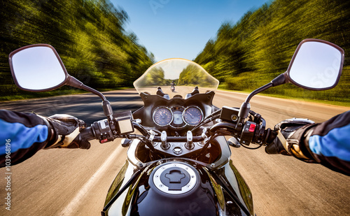 Fototapeta  Biker First-person view