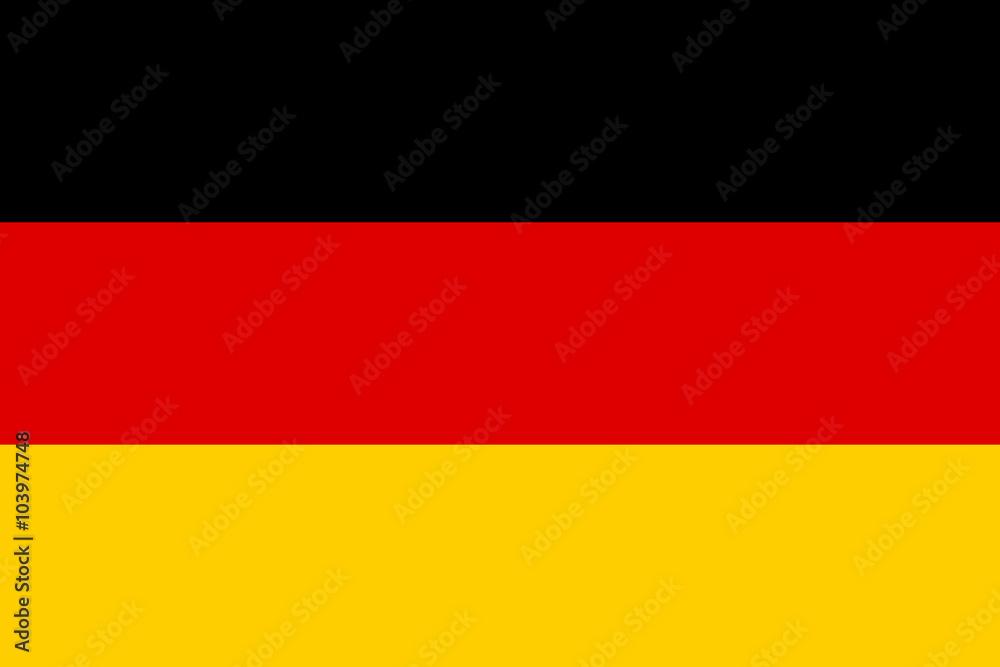 Fototapety, obrazy: Vector of German flag.
