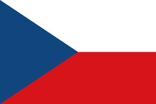 Vector Of Czech Flag.