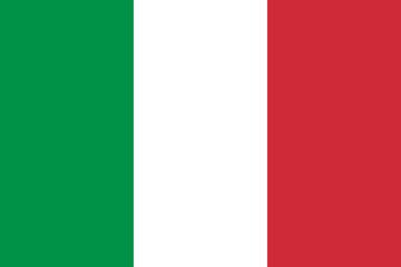 Vector of Italian flag.