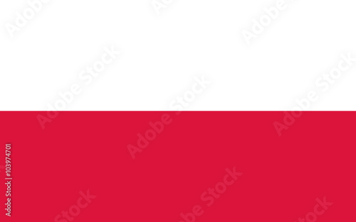 Fototapeta Vector of Polish flag. obraz