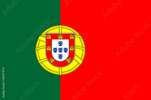 Plakat Wektor flaga Portugalii.
