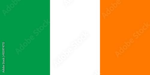 Obraz na płótnie flaga Irlandii
