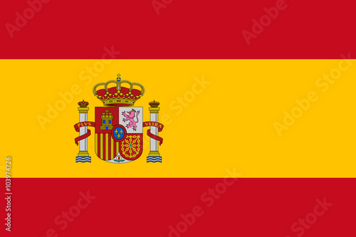 Foto  Vector of Spanish flag.