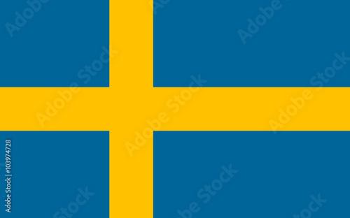 Fotografía  Vector of Swedish flag.