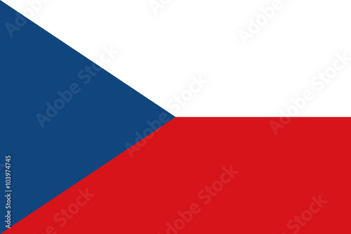 Vector of Czech flag. Canvas Print