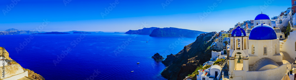 Fototapety, obrazy: Santorini, Greece - Oia, panorama