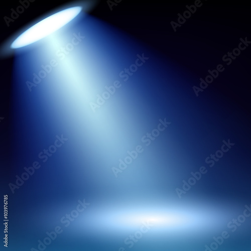 Fotobehang Licht, schaduw Colorful spotlight background vector illustration.