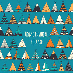 Panel Szklany Boho Home is where you are.