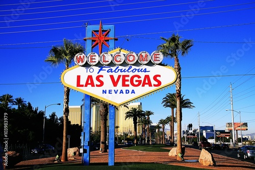Deurstickers Las Vegas American,Nevada,Welcome to Never Sleep city Las Vegas,America