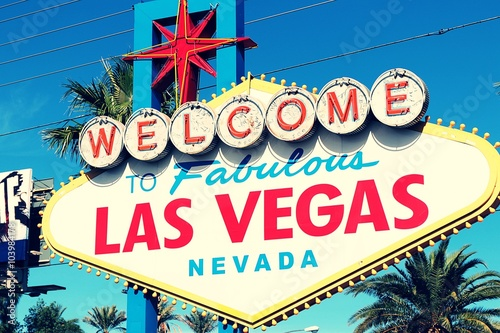 Poster Las Vegas American,Nevada,Welcome to Never Sleep city Las Vegas,America