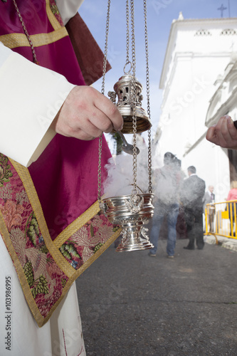 Fotografía  Censer of silver or alpaca, Spain