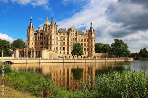 Photo Stands Castle Schwerin Castle, Germany