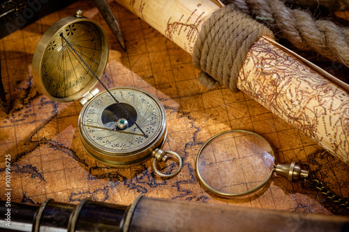 Obraz na płótnie Travel geography navigation concept background.