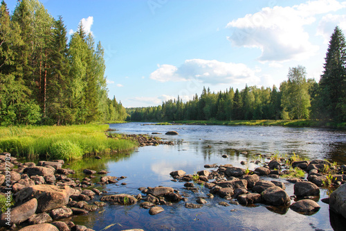 Papiers peints Riviere Summer river