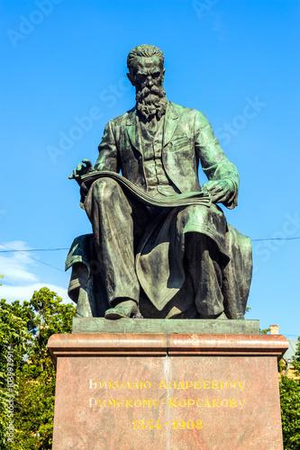 Fotografía  Monument to great russian composer Nikolai Rimsky-Korsakov, St Petersburg, Russi