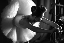 Beautiful Ballerina Warming Up...
