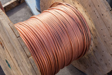 Large Spools Of Electric Cable