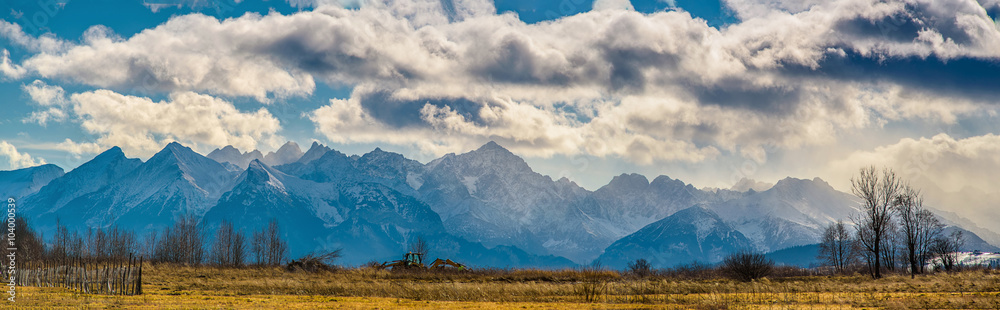 Fototapety, obrazy: Panorama górska Tatry