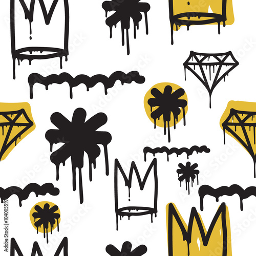 Photo  Graffiti seamless pattern