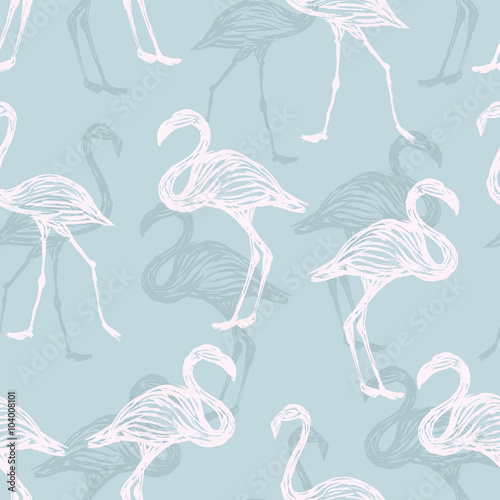 bird flamingo pattern