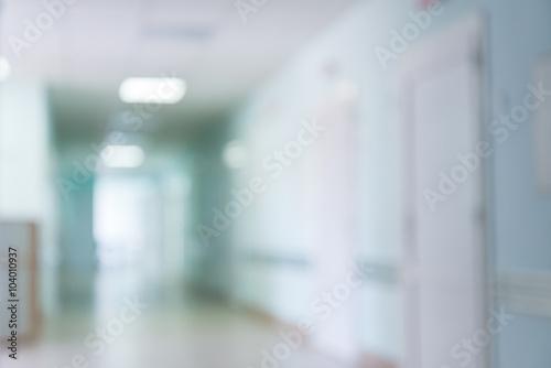 Fotografia  blurry hospital corridor