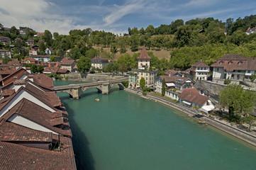Fototapeta na wymiar Switzerland, Bern / The city of Bern or Berne is the de facto capital of Switzerland. The official language of Bern is German, but the main spoken language is the Alemannic Swiss German.