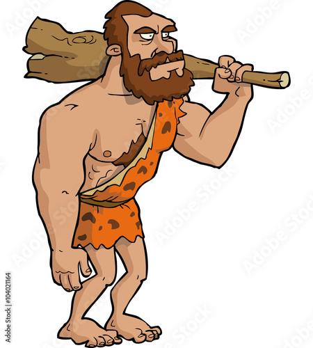 Photo  Caveman with club