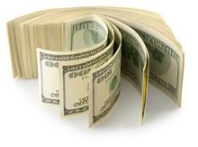 Money Roll Dollars Isolated On...