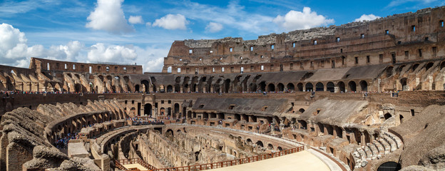 Fototapeta General Inside View of Colosseum