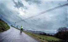 Cyclist Training Under The Rai...