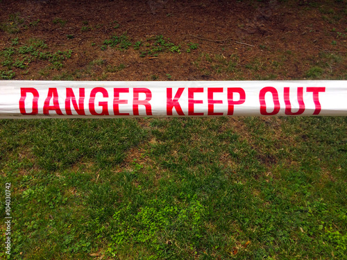 Poster  Danger Keep Out - Tape sign