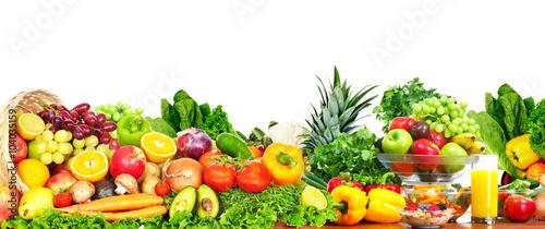 Keuken foto achterwand Vruchten Fruits and vegetables.