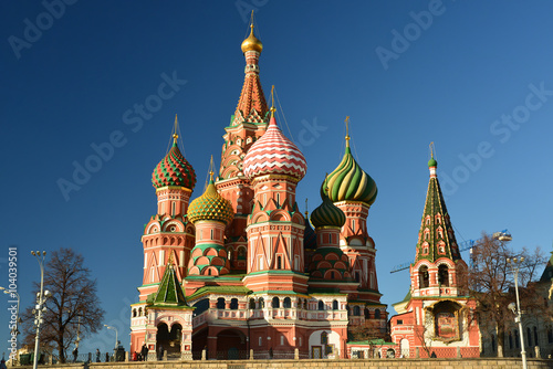Fotografie, Obraz  Saint Basil Cathedral and Vasilevsky Descent of Red Square in Moscow, Russia