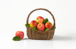 basketful of red apples