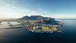canvas print picture Aerial coastal view of Cape Town, South Africa